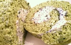 Green Tea and Black Sesame Swiss Roll