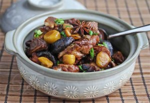 Braised Chinese Chestnut Chicken