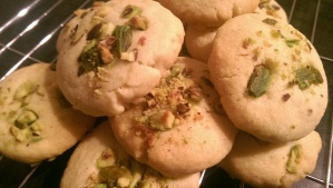Pistachio and Stem Ginger Shortbread