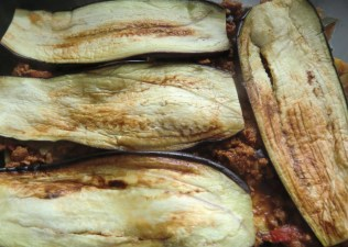 Grilled Aubergine with Quorn Mince
