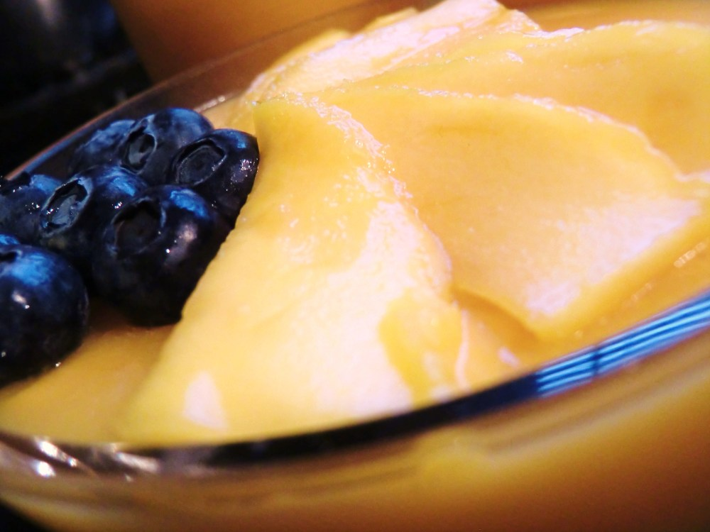 Mango and Coconut Pudding: A lighter dessert after a heavy Chinese New Year meal (1/6)