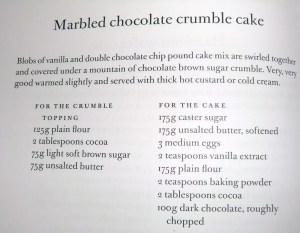 Marble Cake recipe