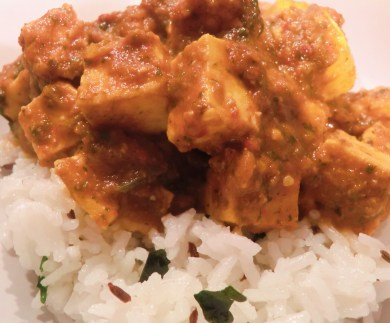 Coriander Paneer with Jeera Rice