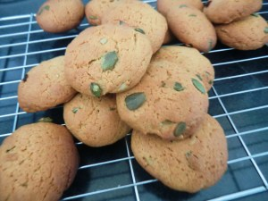 Maple Syrup  and Pumpkin Seed Cookies