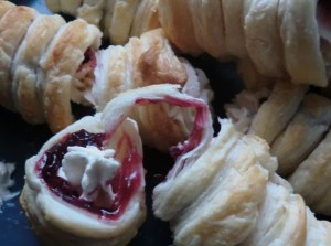 Afghan Cream Rolls with Cherry