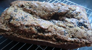 Black Sesame and Pear Loaf Cake