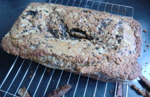 Black Sesame and Pear Loaf
