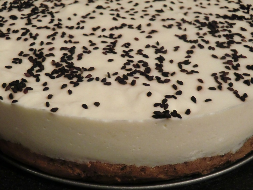 Black Sesame and Pear Mousse Cake (4/4)