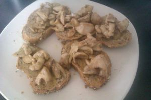 Garlic Butter Wild Mushrooms on Toast