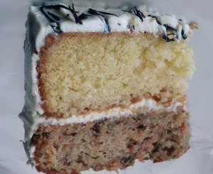 Lemon Drizzle and Carrot Cake with Cream Cheese Frosting