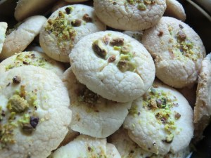 Iranian Rose water Rice Cookies