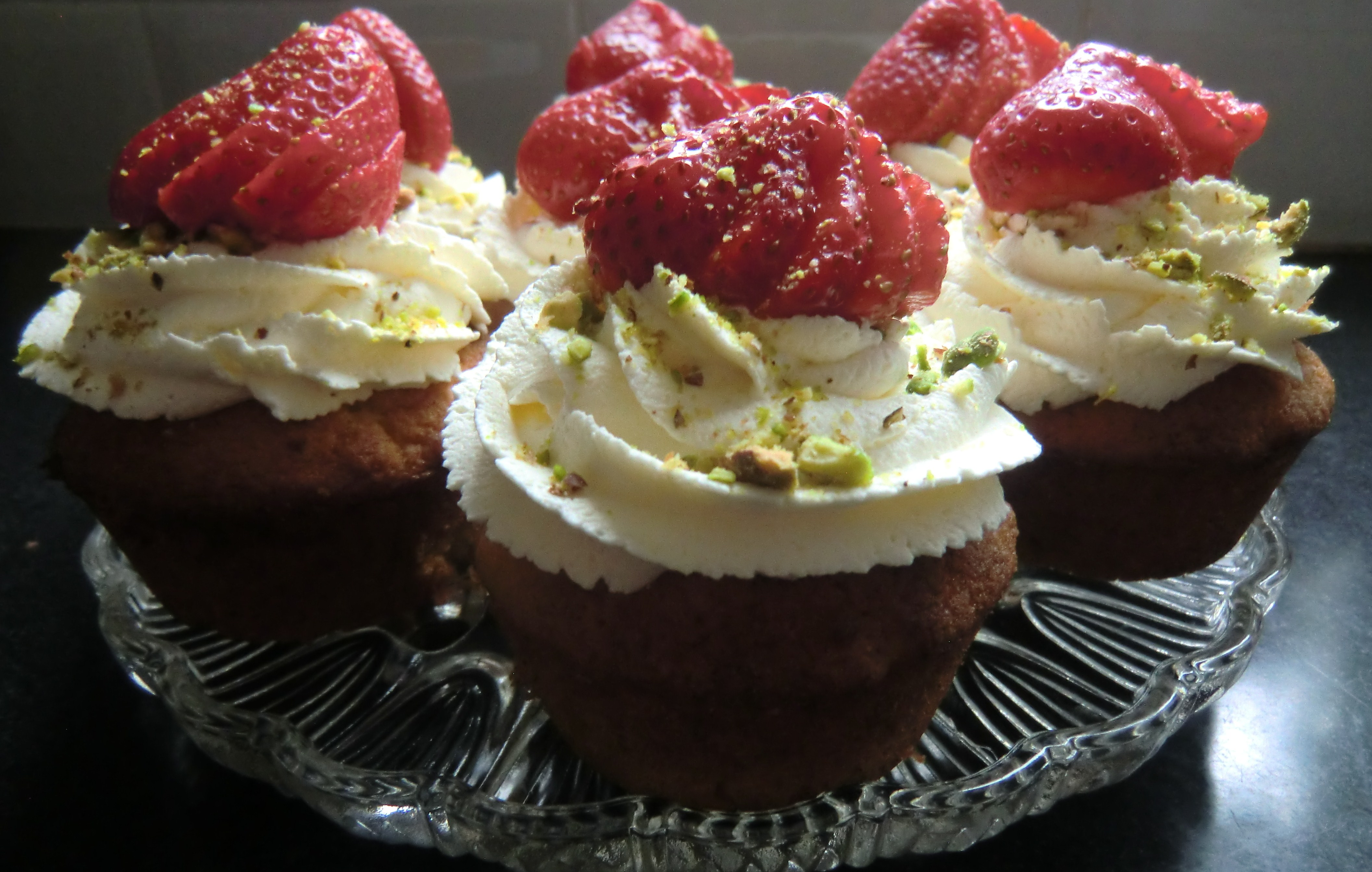 Strawberry-Filled Cardamom Cupcakes Recipe — Dishmaps