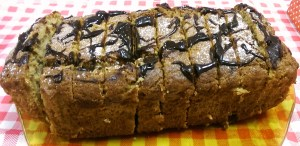 Banana Loaf with Chocolate Drizzle