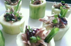 Braised Duck in Pickled Cucumber Cups