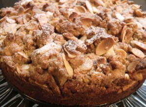 Pear and Almond Cake with Struesel Topping