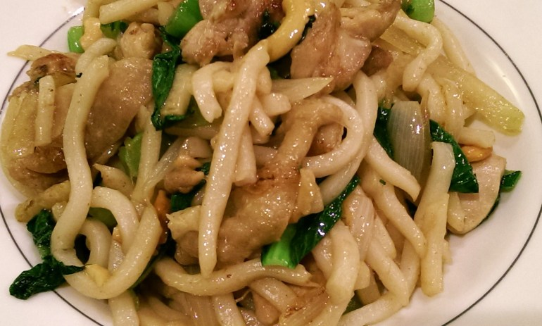 Chicken and Choy Sum Udon Noodles