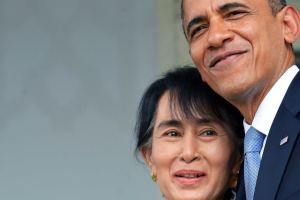 Obama and Aung San Suu Kyi- Nov 2014