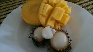 Locally grown Mango and Rambutan Season