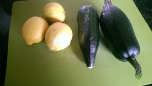 Home Grown Courgettes