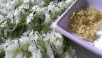 Grated Courgette and Lemon Zesr