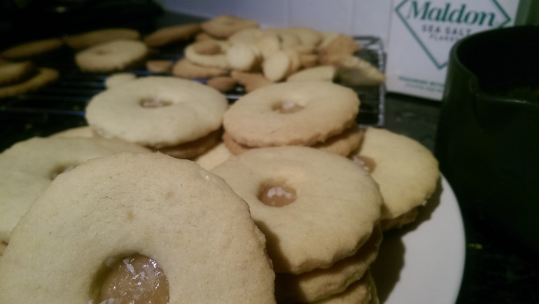 Salted Butterscotch and Almond Shortbread Biscuits