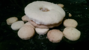 Almond Shortbread Biscuit 'holes'